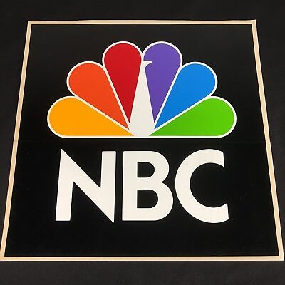 NBC News Station Sticker Decal 10x10 Large Square Promo Advertising Peacock