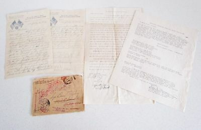 2 WWI Letters & WWII Honorable Discharge Letter Military Knights of Columbus