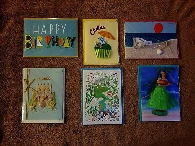 Papyrus greeting cards lot of 6 birthday summer cute sweet unique papyrus greeting cards lot of 6 birthday summer cute sweet unique new beach m4hsunfo