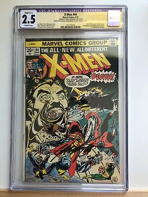 Uncanny X Men 94 CGC 2.5 SS Claremont New Team! GD/VG