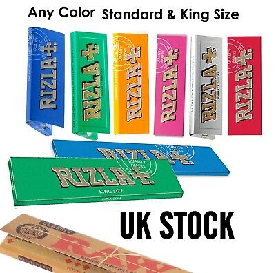 Raw Classic Rizla King Size Slim 110mm Natural Unrefined Rolling Papers Full rzP