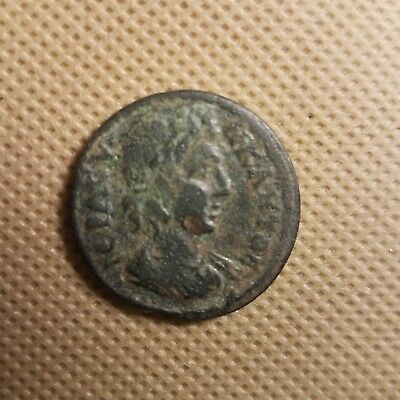 XF Original authentic Ancient rare 24mm coin for attribution deep green patina
