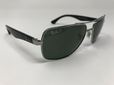 bb395573184 RAY-BAN RB 3483 Square Aviator SUNGLASSES   BLACK   GUNMETAL-POLARIZED 767