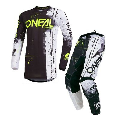 Oneal 2019 ADULT Element Shred MX Motorbike Jersey and Pants BLACK