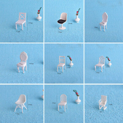 Dollhouse Furniture Miniature Chair DIY Deco Living/Dining Room 1:20
