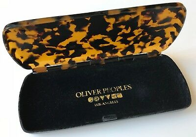 Vintage Oliver Peoples Faux Tortoise Shell Hinged Glasses Case, c1980-90