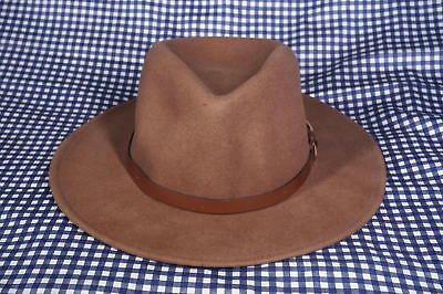 Indiana Jones Dorfman Pacific Wool Felt Fedora H2O Repellent Hat M Medium  Brown e3d14e042e2