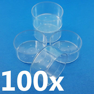 NEW Tea Light Candle Cups x 100 Candle Making Supplies Polycarbonate - CLEARANCE