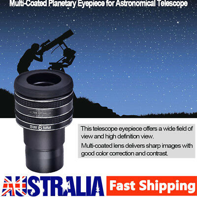 "1.25"" Plossl 6mm Eyepiece Fully Multicoated Lens for Astronomy Telescope AU Hot"