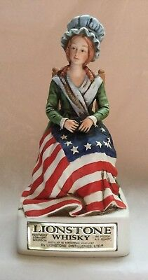 Lionstone Whiskey Decanter Betsy Ross 1975