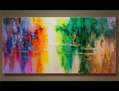 Modern Abstract Art 100% Hand-Painted Scenery Oil Painting Home Decor Canvas