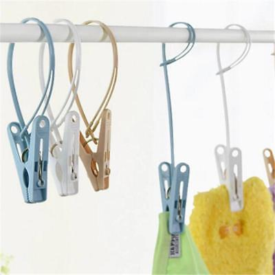 12pcs Colorful Clothespins Hook Laundry Clips Multipurpose Bra Socks Hanger Pegs Great Value Robe Hooks Bathroom Fixtures