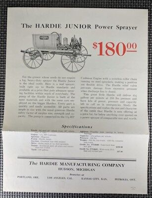 "Hardie Junior Spraying Unit ""Extra SPECIAL Spring OFFER"""