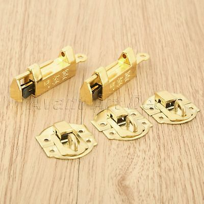 10pcs Retro Furniture Suitcase Jewelry Box Lock Latch Clasp with Vintage Padlock
