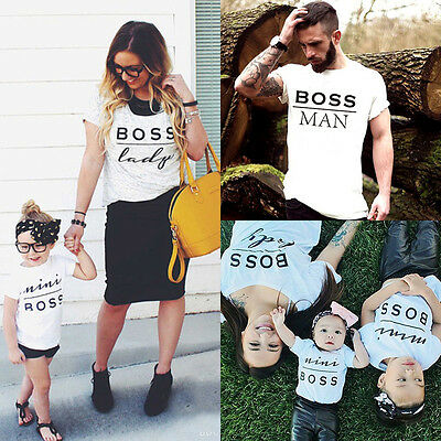 Mom Dad Baby Kids T-Shirts Family Matching Clothes Little Big Brother Sister