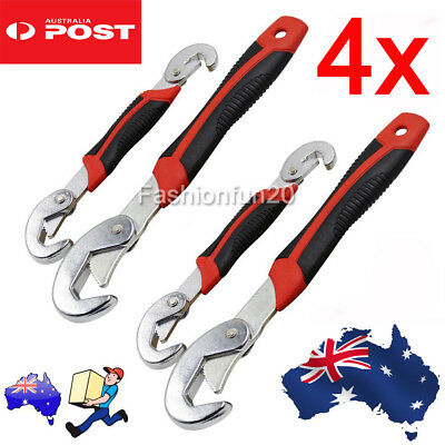 4 X Universal Quick Snap N Grip Wrench and Spanner Adjustable Multi Function Set