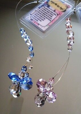 Forget Me Not Angel Crystal Ornament made with a Swarovski Crystal Tear