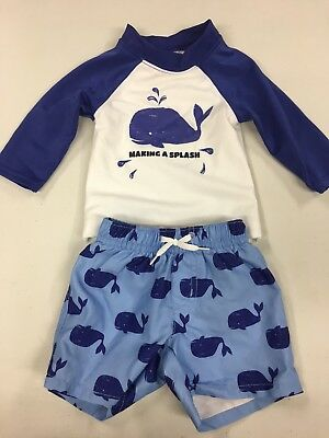 Gymboree Baby Boy Swim Suit Outfit Size 3-6 Months Whale Very Cute Water Play