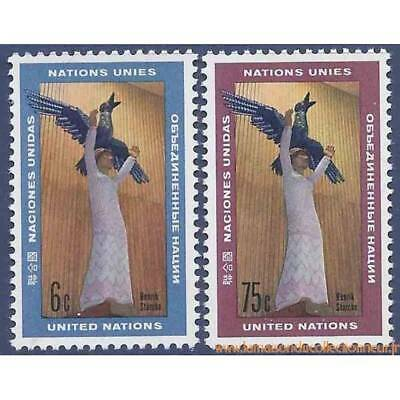 Timbre collection ONU New-York N° Yvert et Tellier 177/178 Neuf sans charnière