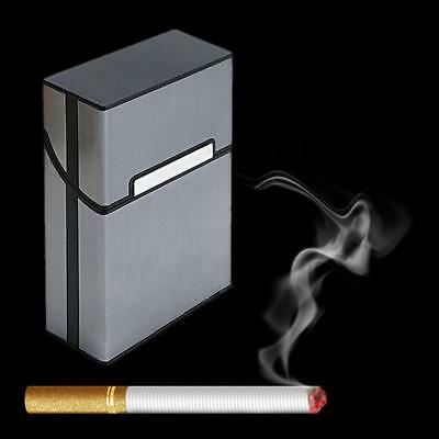 Metal Cigar Cigarette Case Aluminum Tobacco Storage Container Holder Pocket Box