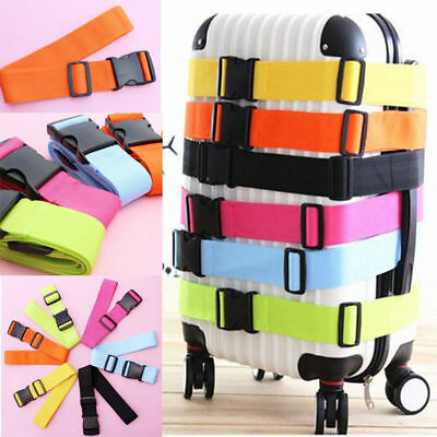 Travel Baggage Adjustable Suitcase Luggage Straps Tie Down Belt Buckle Strap