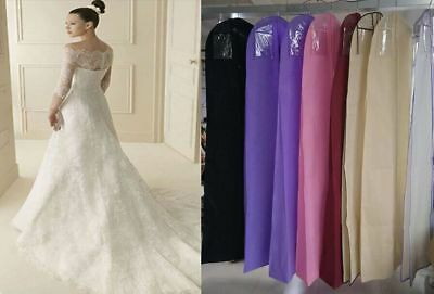 Wedding Dress Gown Frock Garment Dust Cover Bag Protector Storage Zip Bag NEW