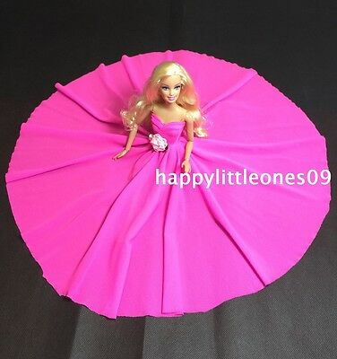 Hot Pink Large Wedding Party Evening Dress/Clothes/Outfit for Barbie Doll New