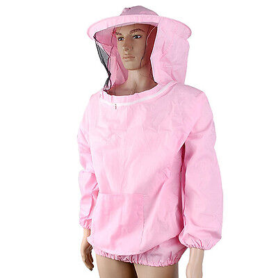 Beekeeping Jacket Veil Bee Keeping Suit Hat Pull Over Smock Protective Tool New·