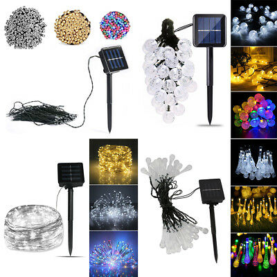 UK LED Solar String Lights Waterproof 7/10/20M Copper Wire Fairy Outdoor&Garden