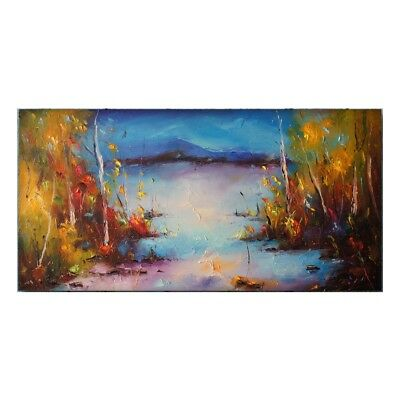 Huge Modern Hand-Painted Oil Painting Abstract Scenery Home Decor Art On Canvas