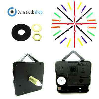 Replacement Extra Long Quartz Clock Movement Mechanism 26mm Shaft Coloured Hand
