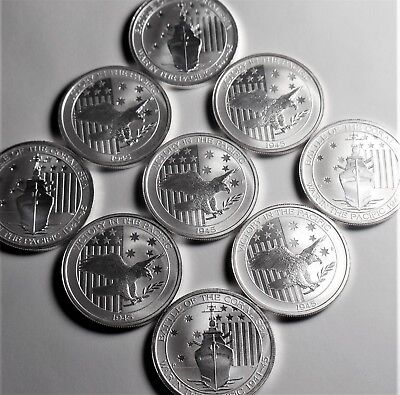 (Mix Lot of 9 ) 2015,16 1/2 oz Australian Battle Coral and Victory .999 Silver