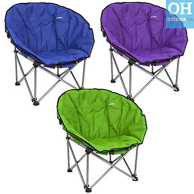 NewSummit Orca Moon Chair Portable Festival Outdoors Camping Padded Bucket Seat