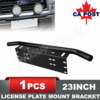 Front Bumper License Plate Frame Aluminum Bull Bar Mounting Bracket CA Stock