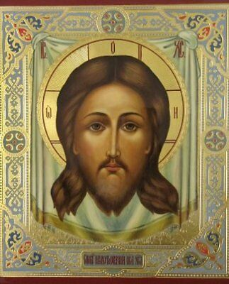 Handwritten russian icon of the Savior Not Made by Hands