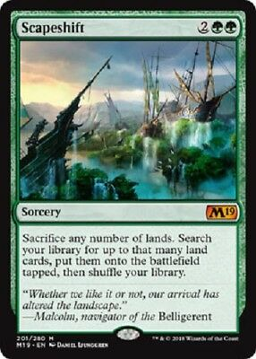 Scapeshift mythic M19 Core set 2019 MTG Magic The Gathering