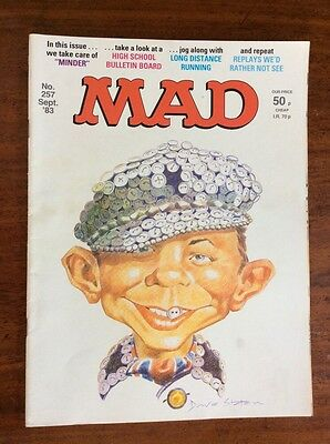 VINTAGE MAD MAGAZINE HUMOUR COMIC No. 257 Sept 1983 Cockney Pearly King