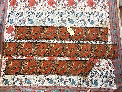 Collection Antique Early Jacquard Woven Border Textiles French English 1800's