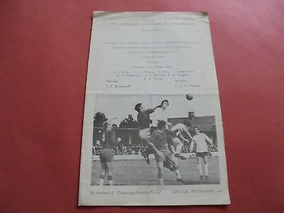 1969/70 Cambridge City V Cambridge United Cpc Semi Final (Last Season As Non Lge
