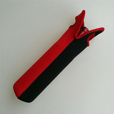 Baoblaze Single Wine Bottle Carrier Sleeve Cooler Insulated Bag Red&Black