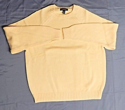 Childs Lands' End  Yellow Long Sleeve Crew neck sweater Size M 10-12