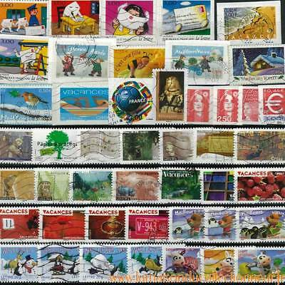 Collection de timbres France oblitérés Autoadhesifs