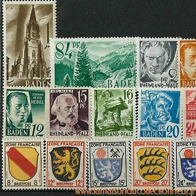 Collection de timbres France oblitérés Occupation