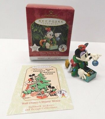 Hallmark Ornament 1999 Minnie Trims the Tree * Archives Series  * FREE SHIPPING
