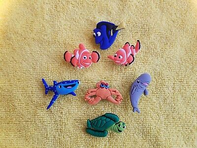 FINDING NEMO shoe charms/cake toppers!! Set of 7!! FAST USA SHIPPING!