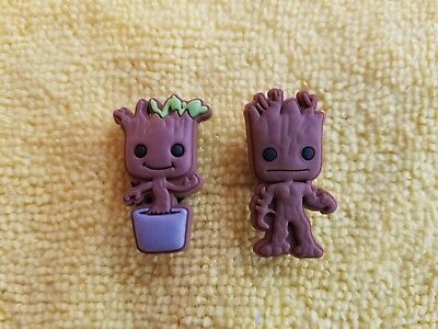 GROOT shoe charms/cake toppers!! Adorable Pair!! FAST USA SHIPPING!