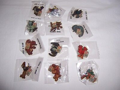 Group Ii Mcdonalds Beanie Baby Ty Pins Lot 12 Different New N Package Crew Lapel