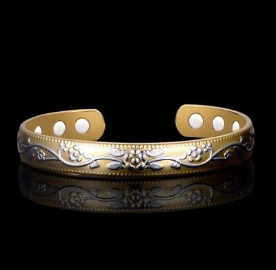 COPPER BRACELET MAGNETIC LADIES Bangle Gold Womens 6 Bio Magnets ARTHRITIS + BAG