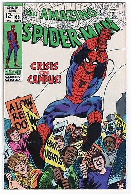 Amazing Spider-Man #68 (1969) Silver Age Lee/Romita Classic with Kingpin! VF/VF+