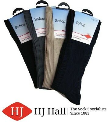 HJ HALL Mens  SOFTTOP Softop Lose Fitting Diabetic Comfort Fit Socks Diamond